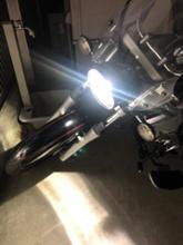 ドラッグスター125自作 クリアヘッドライトの全体画像