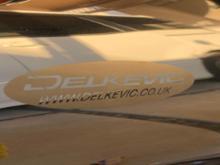 XR125LDELKEVIC スリップオンマフラーの全体画像