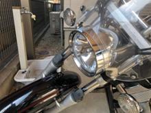 ドラッグスター125自作 クリアヘッドライトの単体画像