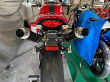 MONSTER1100 (モンスター)Danmoto カーボン GP スリップオン マフラーの全体画像