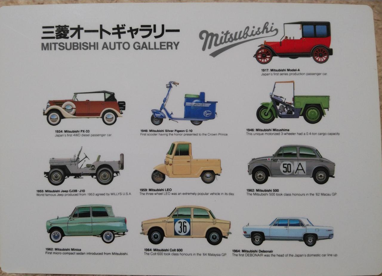 三菱自動車(純正) 三菱オートギャラリー下敷き