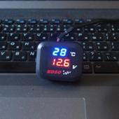 KOSO 温度・電圧メーター、USB電源