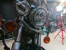 ドラッグスタークラシック400OVOTOR 7インチヘッドライトセット ハーレーダビッドソン用の単体画像