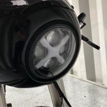 TW200E不明 X印のライトの単体画像