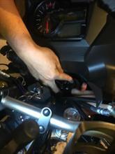 Vストローム650XTSPHERE LIGHT スフィアライト バイク用 スフィアLED RIZINGの全体画像