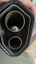 R1250GSLCIPARTS ツインエンド チタン スリップオンマフラーの全体画像