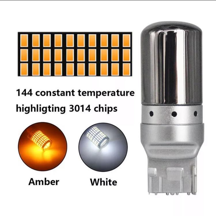 不明 T20 LED ステルス アンバー ハイフラ防止 キャンセラー内蔵 2個入
