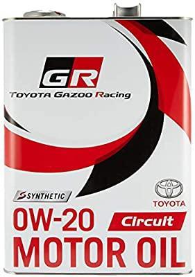 トヨタ(純正) TOYOTA GAZOO Racing トヨタ純正 GR MOTOR OIL Circuit 0W-20 4L