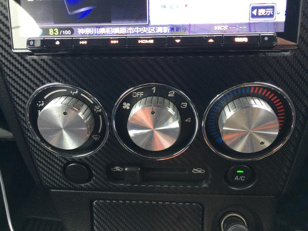 ヤフオク エアコン アルミ製 ツマミ3個セット