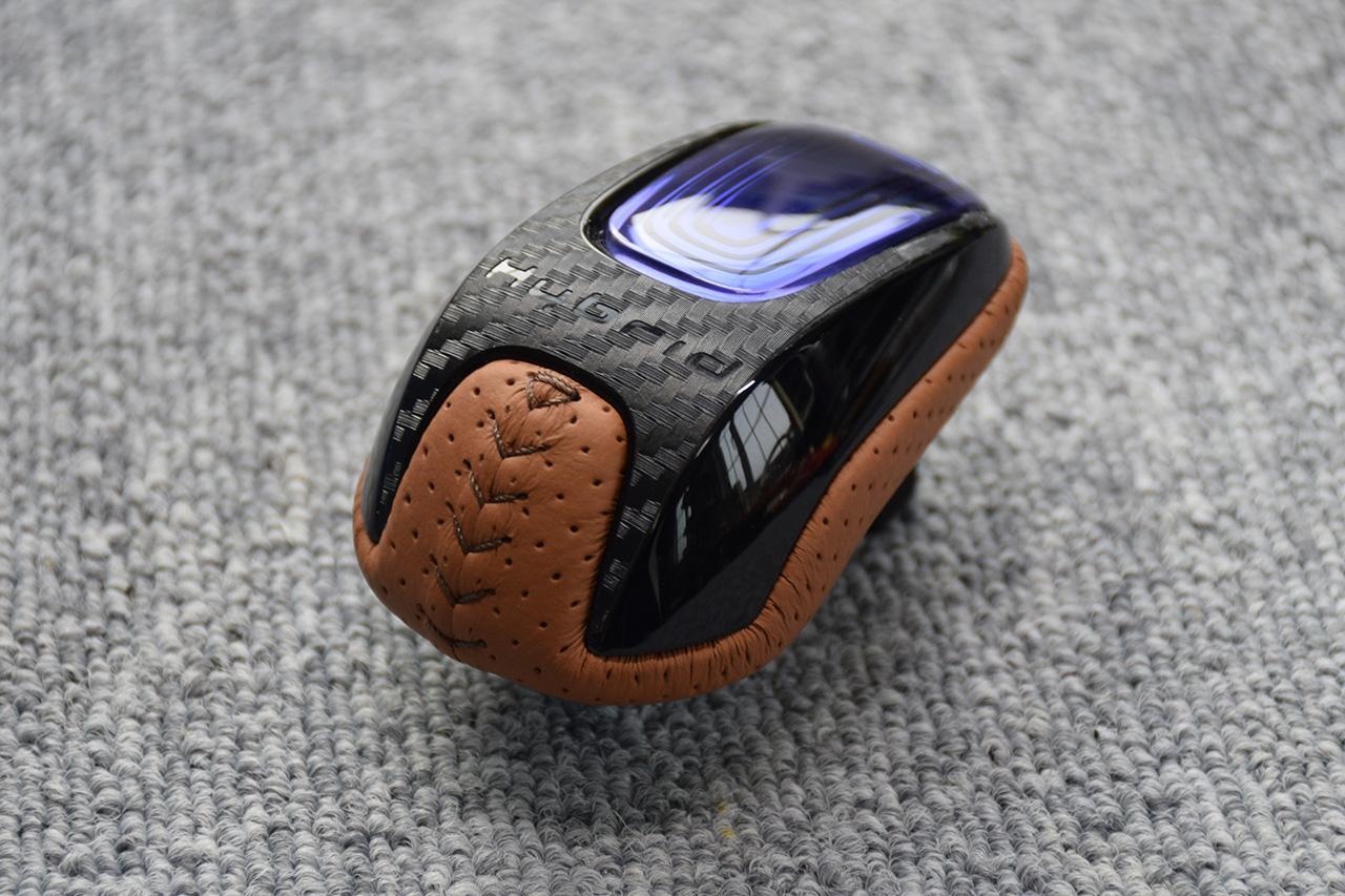 Leather Custom FIRST ヴェゼルH/V用セレクトノブ本革巻き加工