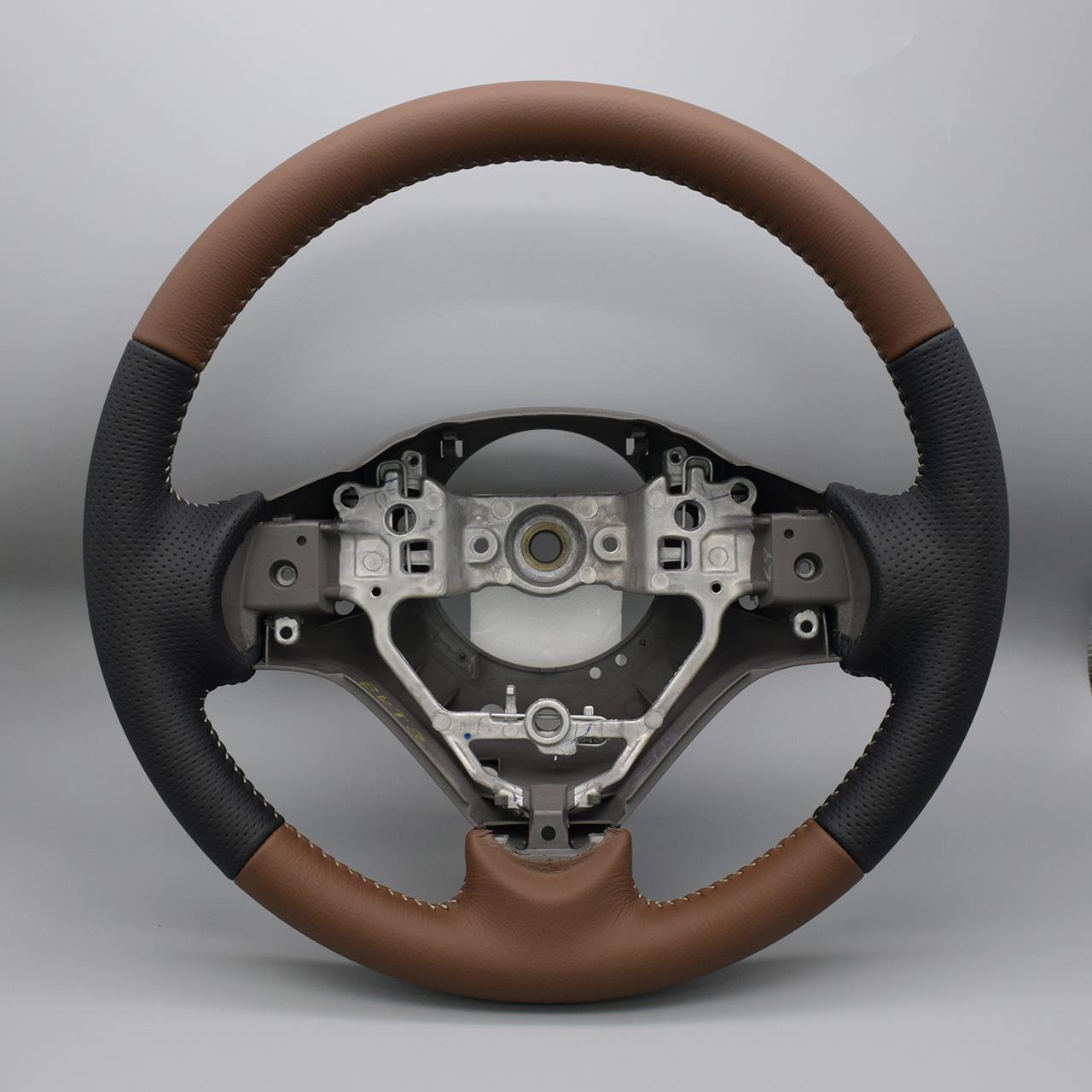 Leather Custom FIRST ハスラー純正ステアリング革巻き加工