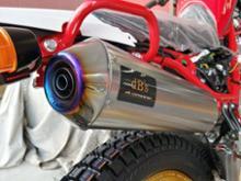 セロー250ファイナルエディションdB's フルチタンサイレンサー(チタンジョイント)の単体画像