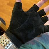 レザックス JOYFIT シープスエードグローブ 半指羊革 黒 PS-1