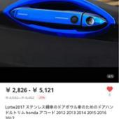 Lsrtw2017 ドアハンドルカバー/ドアハンドルプロテクター