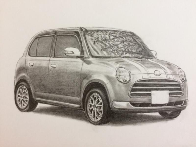 Hiiro さんオリジナル L650ミラジーノ鉛筆デッサン
