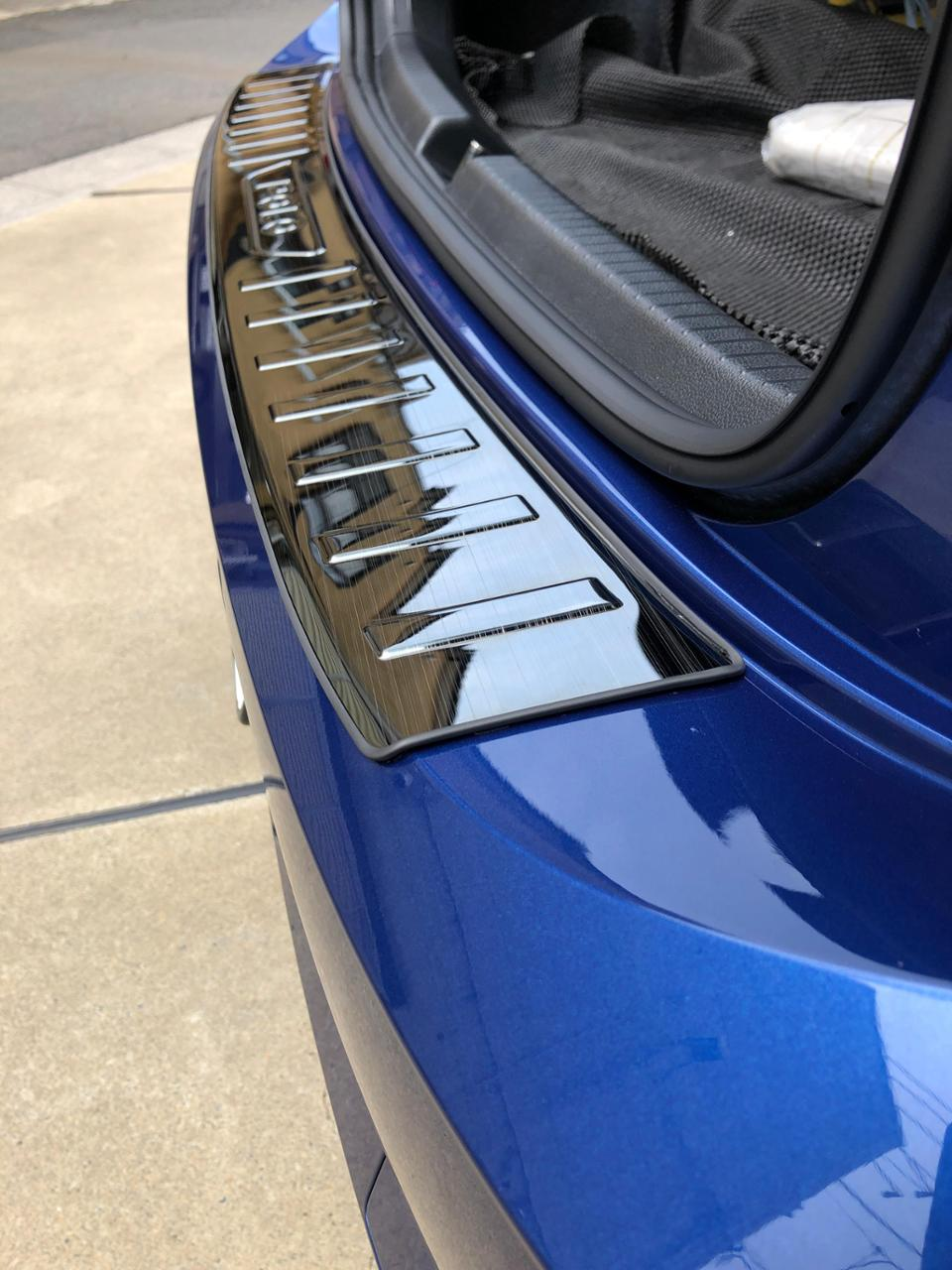 不明 ステンレス鋼インナー外装リアバンパーフットプレート用フォルクスワーゲンvwポロプラス 2019