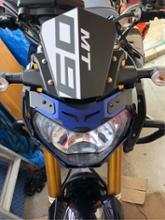 MT-09RIDEA ヘッドライトカバー ブルーの単体画像
