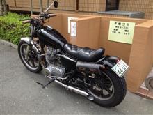 綾孝さんのXS650SP リア画像