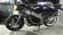 やっぱバイクだねぇさんのウルフ250 リア画像