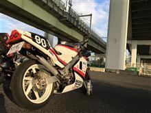 嶋次郎さんの88'NSR250 リア画像