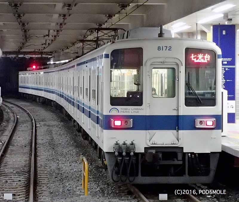 MOLEさんの東武鉄道 8000系