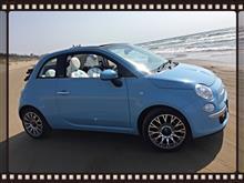 ねこちゃん車さんのフィアット500 C (カブリオレ) 左サイド画像