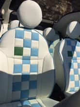 ねこちゃん車さんのフィアット500 C (カブリオレ) インテリア画像