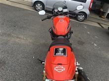 BMW840 杉山さんのスポーツスターXR1200 リア画像