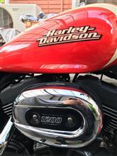 赤ライトニングさんのスポーツスターXL1200R(ロードスター) 左サイド画像
