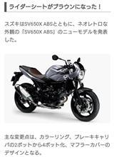 ZumisanさんのSV650X ABS メイン画像