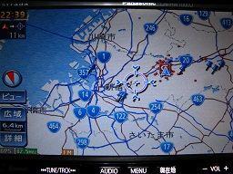 6.4kmスケールでは路線番号表示あり