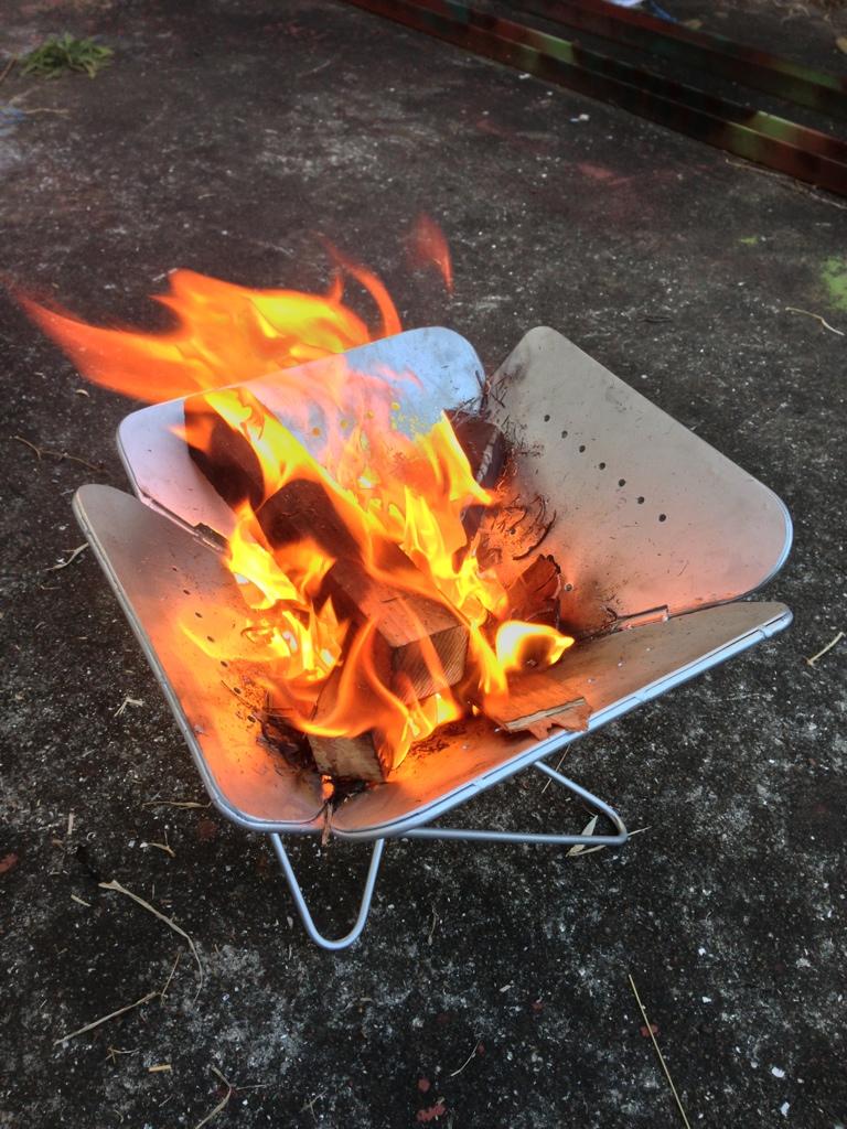 自作 焚き火 台