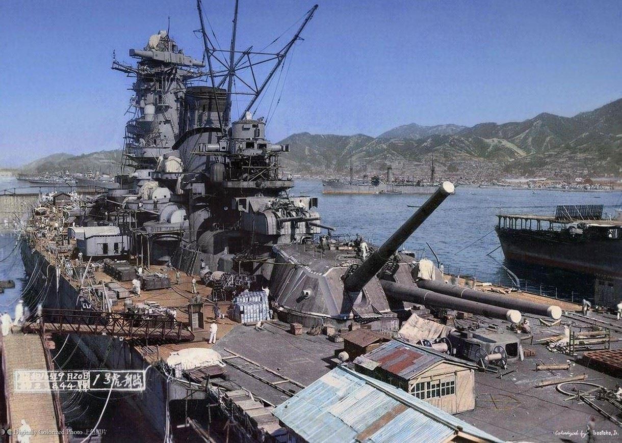 戦艦 大和 武蔵 建造から就役 海戦 沈没までの実写画像まとめ