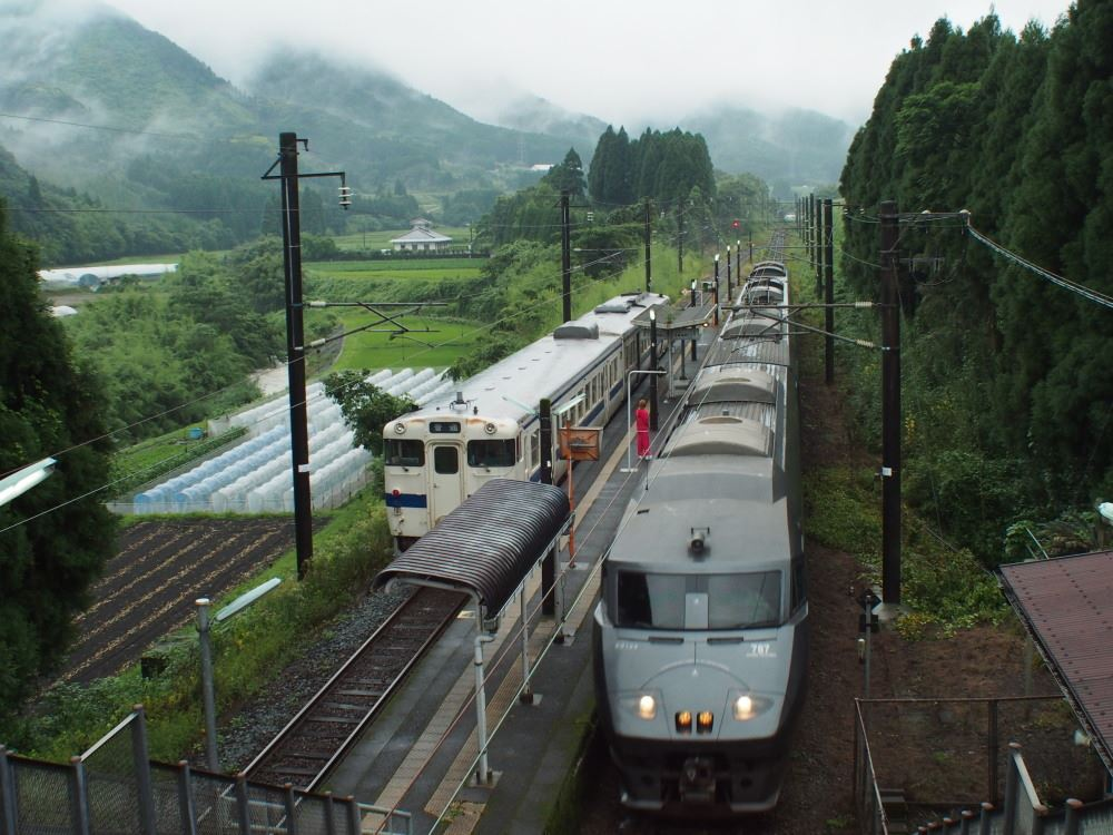 日豊本線 日向沓掛駅 ホーム全景
