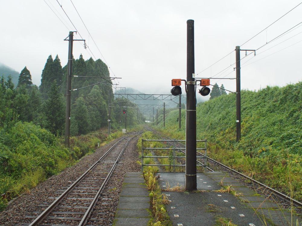 日豊本線 日向沓掛駅 田野駅方向を見る