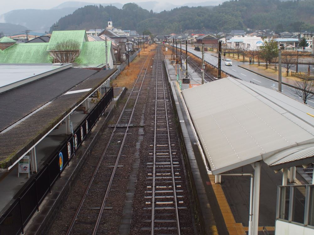 JR肥薩線 栗野駅 吉松駅方面を見る