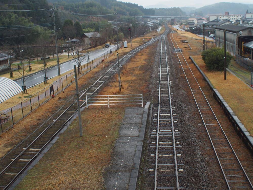 JR肥薩線 栗野駅 大隅横川駅方面を見る