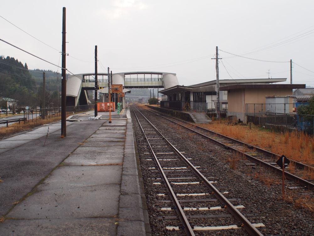 JR肥薩線 栗野駅 吉松方面ホーム端