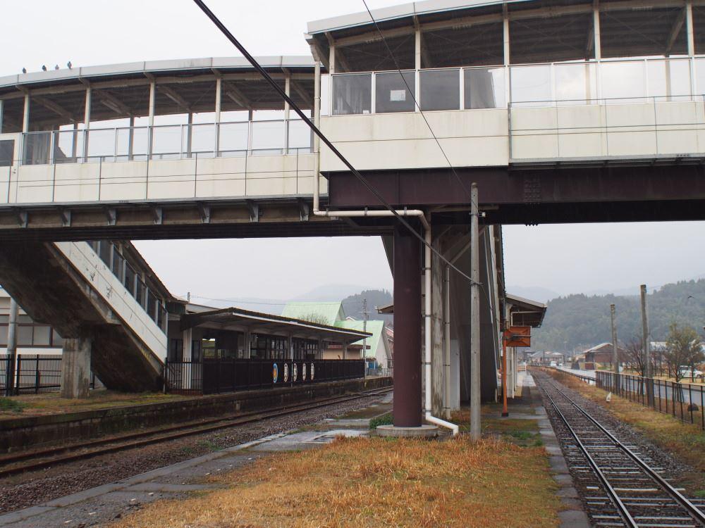 JR肥薩線 栗野駅 大隅横川方面ホーム端