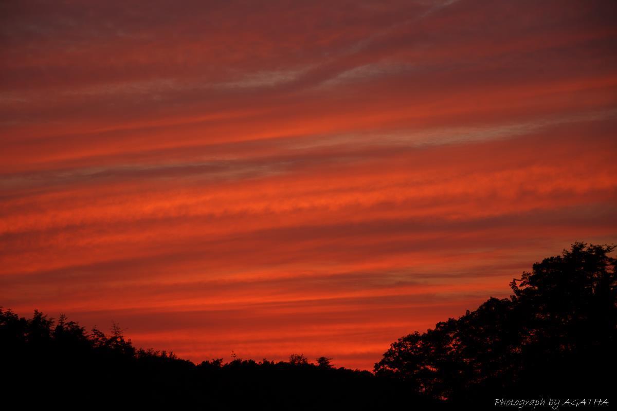 2015-05-24 千代田湖で見た夕焼け