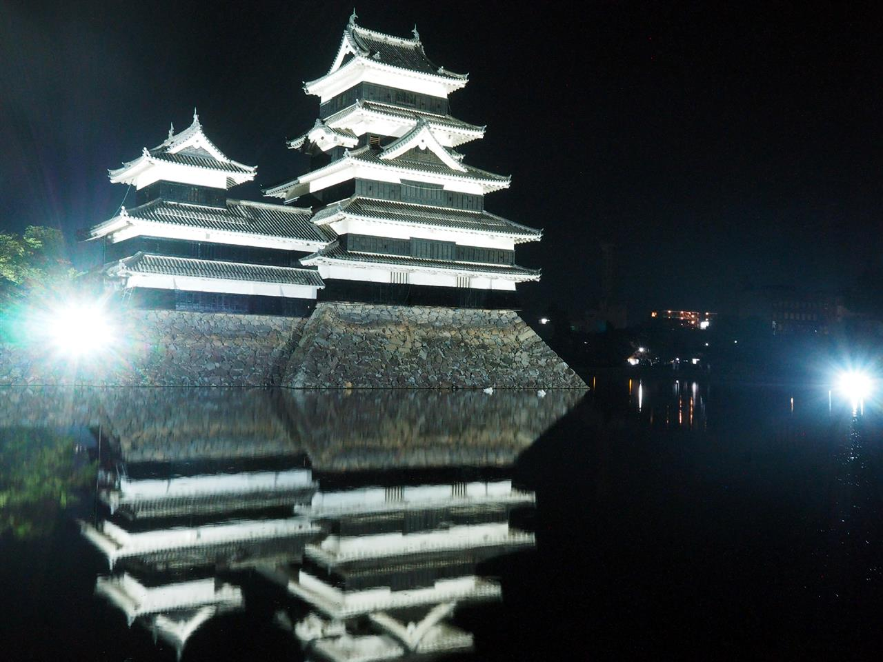 松本城 ライトアップ