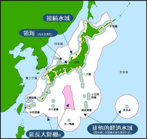 日本の領海等概念図