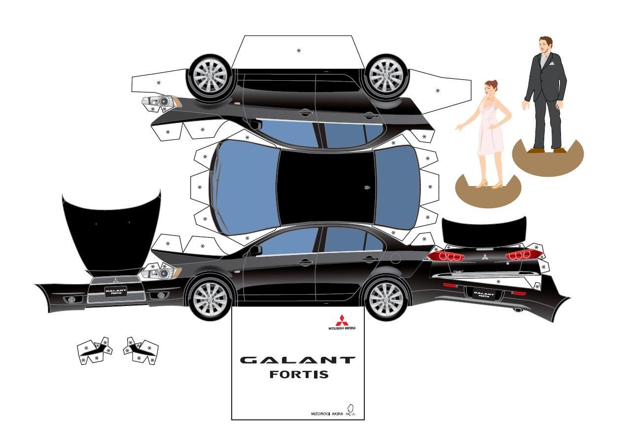 「三菱車 の ペーパークラフト を 作ってみよう ・・・・」アクア ASX Ralliartのブログ ...