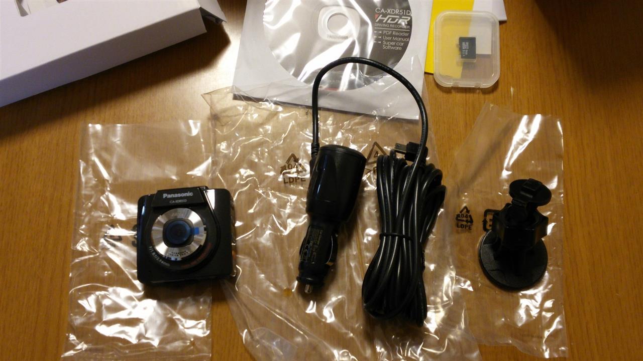 ドライブレコーダー Panasonic CA-XDR51D 購入品