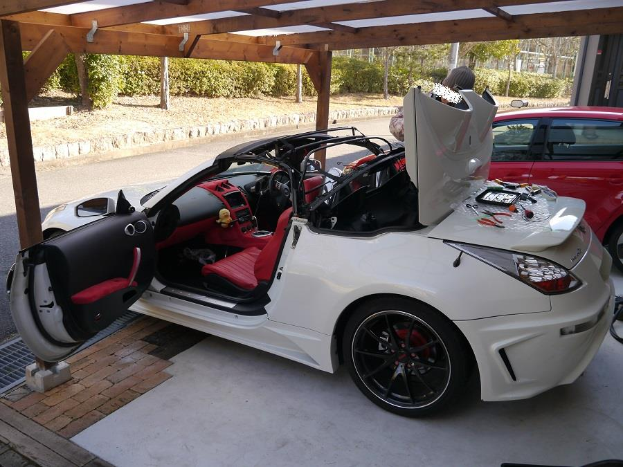オープンカー クロス幌専門店MALIBU フェアレディZ 33ロードスター 幌交換