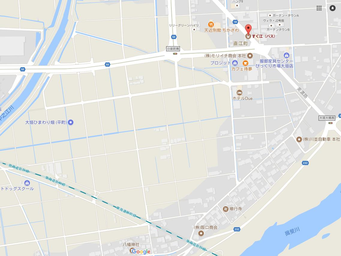 大垣ひまわり畑 GoogleMap