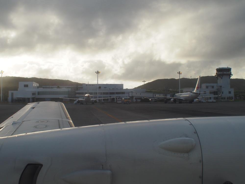 奄美空港 JAC3734 SAAB340B④
