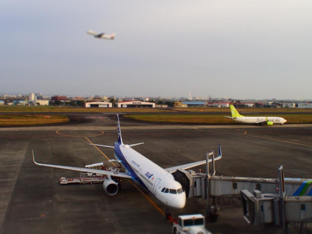 宮崎空港 ANA602 A321①
