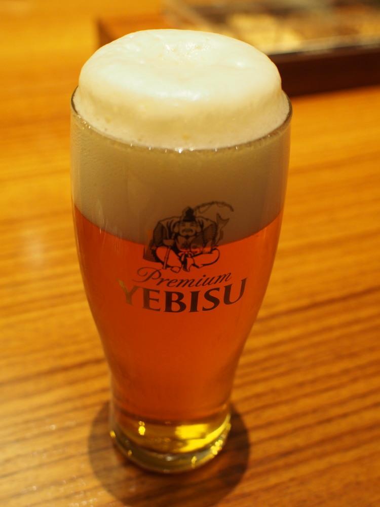 ヱビスビール記念館 テイスティング 3度注ぎ