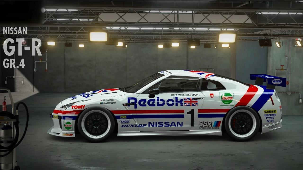 GT SPORT カーリバリー Reebok R35 GT-R